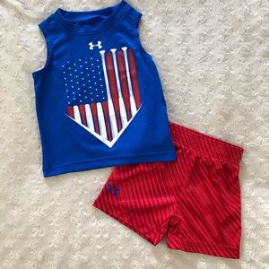 Under Armour 12 Month Baby Boy Outfit Short Set